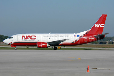 NAC-Northern Air Cargo Boeing 737-301 (SF) N360WA (msn 23553) (Teamwork That Delivers!) YHM (TMK Photography). Image: 908670.