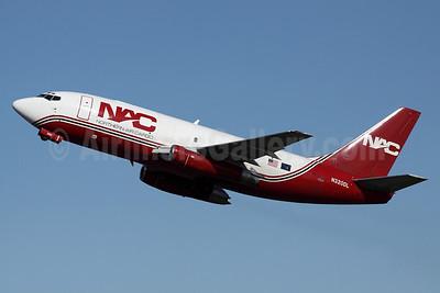 NAC-Northern Air Cargo Boeing 737-232 (F) N320DL (msn 23092) ANC (Michael B. Ing). Image: 906995.