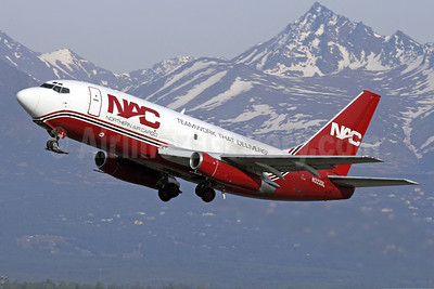 NAC-Northern Air Cargo Boeing 737-232 (F) N322DL (msn 23094) ANC (Michael B. Ing). Image: 922843.