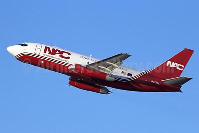 NAC-Northern Air Cargo Boeing 737-232 (F) N322DL (msn 23094) ANC (Michael B. Ing). Image: 922945.