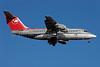 Northwest Jet Airlink-Mesaba Airlines BAe RJ85 N513XJ (msn E2329) MSP (Jan Petzold). Image: 900869.