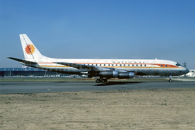 National Airlines (1st) McDonnell Douglas DC-8-21 N6571C (msn 45391) LAX (Ted J. Gibson - Bruce Drum Collection). Image: 912190.