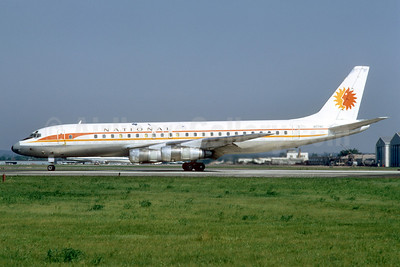 National Airlines (1st) McDonnell Douglas DC-8-51 N774C (msn 45634) PHL (Bruce Drum). Image: 102863.