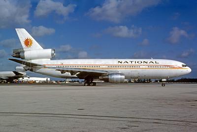 National Airlines (1st) McDonnell Douglas DC-10-30 N81NA (msn 46712) MIA (Bruce Drum). Image: 102862.