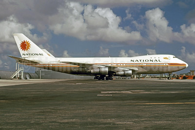National Airlines (1st) Boeing 747-135 N77773 (msn 19919) MIA (Bruce Drum). Image: 101069.