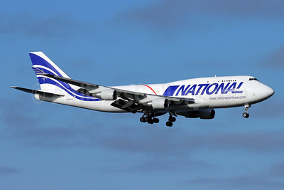 National Airlines (5th) Boeing 747-412 (F) N756CA (msn 26547) ANC (Michael B. Ing). Image: 951698.