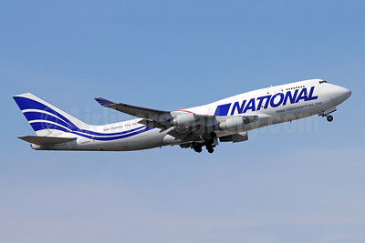 National Airlines (5th) Boeing 747-412 (F) N702CA (msn 27217) ANC (Michael B. Ing). Image: 955528.