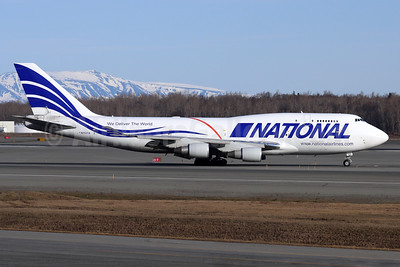 National Airlines (5th) Boeing 747-412 (F) N702CA (msn 27217) ANC (Michael B. Ing). Image: 955527.