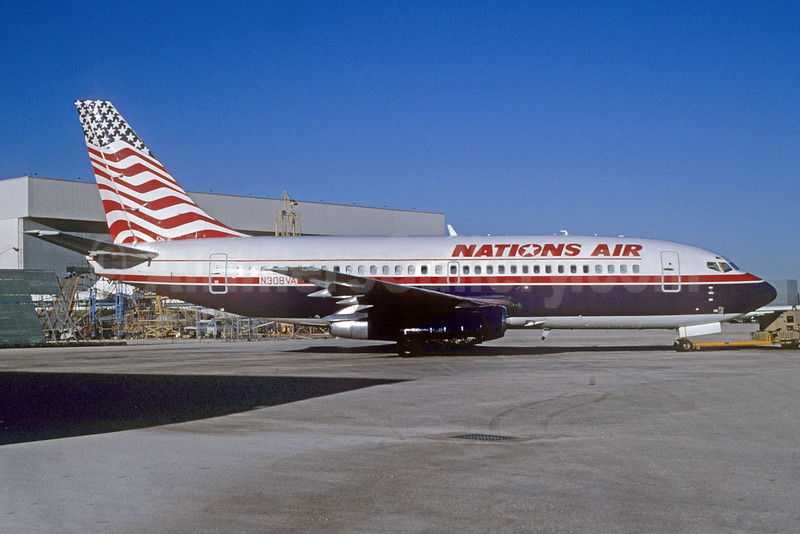 Nations Air Express Boeing 737-247 N308VA (msn 19613) MIA (Bruce Drum). Image: 102742.