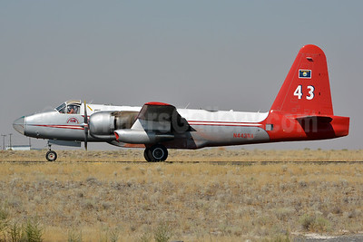 "Neptune Aviation Services Lockheed P-2H Neptune Air Tanker N443NA (msn 726-7168) ""43"" MWH (Jay Selman). Image: 403085."