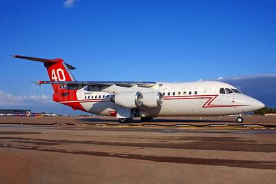 Neptune Aviation Services BAe 146-200 Air Tanker N146FF (msn E2049) HOU (Fernandez Imaging). Image: 950905.