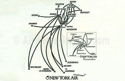 New York Air Route Map (1985)