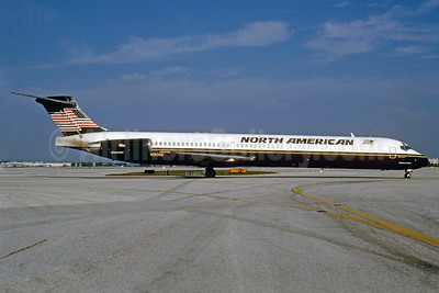 North American Airlines McDonnell Douglas DC-9-83 (MD-83) N183NA (msn 49808) MIA (Bruce Drum). Image: 911916.
