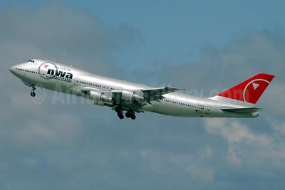 Northwest Airlines-NWA Boeing 747-251B N637US (msn 23548) LAX (Ron Monroe). Image: 944254.