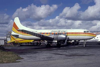Ocean Airways Convair 440-68 N477KW (msn 210) (Air Sunshine colors) MIA (Bruce Drum). Image: 105419.