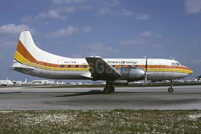Ocean Airways Convair 440-68 N477KW (msn 210) (Air Sunshine colors) MIA (Bruce Drum). Image: 105373.
