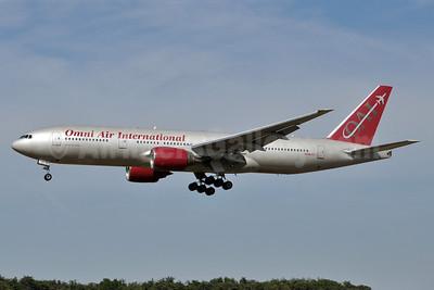 Omni Air International-OAI Boeing 777-222 ER N918AX (msn 26935) BWI (Tony Storck). Image: 907071.