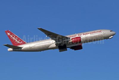 Omni Air International-OAI Boeing 777-222 ER N918AX (msn 26935) ANC (Michael B. Ing). Image: 933160.