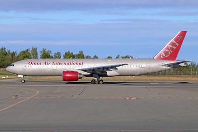 Omni Air International-OAI Boeing 777-222 ER N918AX (msn 26935) ANC (Michael B. Ing). Image: 927861.
