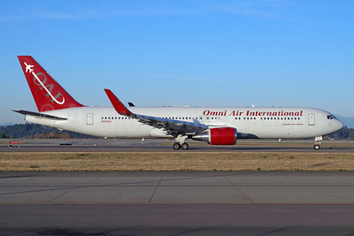 Omni Air International-OAI Boeing 767-323 ER WL N432AX (msn 27449) SEA (Michael B. Ing). Image: 948017.