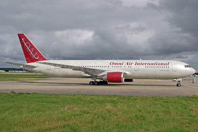 Omni Air International-OAI Boeing 767-328 ER N342AX (msn 27136) SNN (Trevor Mulkerrins). Image: 904188.