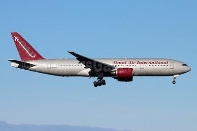 Omni Air International-OAI Boeing 777-2U8 ER N819AX (msn 33681) ANC (Michael B. Ing). Image: 951722.