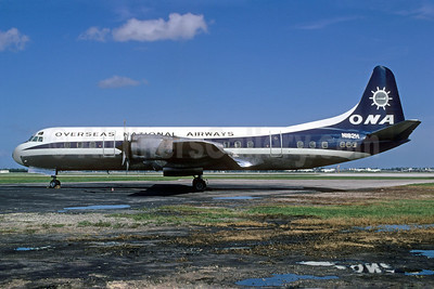 Overseas National Airways-ONA (1st) Lockheed 188C Electra N182H (msn 1133) MIA (Bruce Drum). Image: 103179.