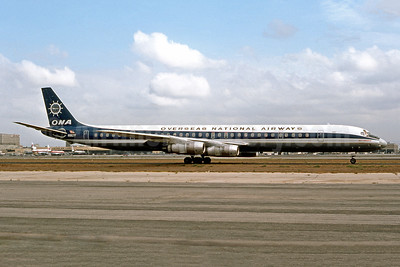 Overseas National Airways-ONA (1st) McDonnell Douglas DC-8-61CF N867F (msn 45939) LAX (Ron Monroe). Image: 948789.