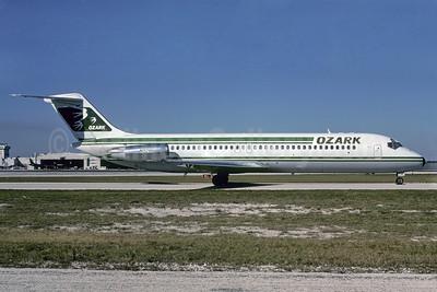 Ozark Airlines (1st) McDonnell Douglas DC-9-34 N928L (msn 48124) MIA (Bruce Drum). Image: 102240.