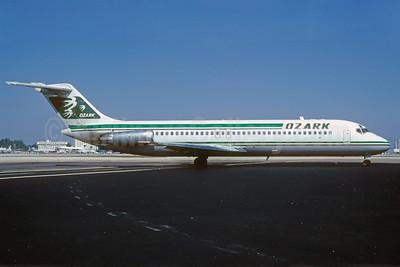 Ozark Airlines (1st) McDonnell Douglas DC-9-32 N921L (msn 47107) MIA (Bruce Drum). Image: 102429.