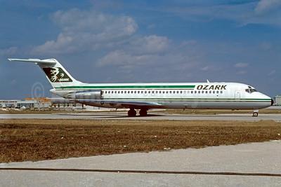 Ozark Airlines (1st) McDonnell Douglas DC-9-34 N927L (msn 48123) MIA (Bruce Drum). Image: 102431.