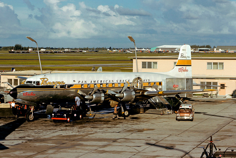 Panagra-Pan American Grace Airways (1st) Douglas DC-6B N6537C (msn 43537) MIA (Jacques Guillem Collection). Image: 906233.