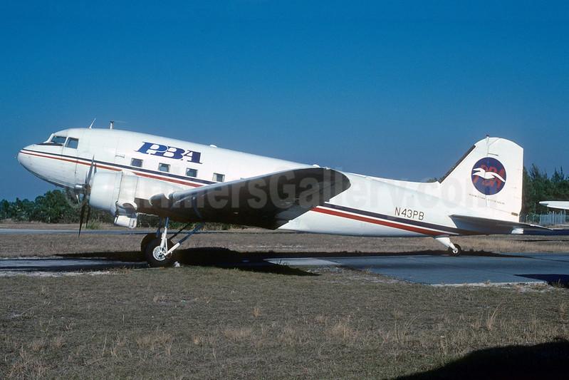 PBA (Provincetown-Boston Airline) Douglas DST-A-207 (DC-3A) N43PB (msn 1953) APF (Bruce Drum). Image: 103029.
