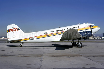 PCA-Pacific Coast Airlines (1st) Douglas C-47B-DK (DC-3) N5647V (msn 34342) LGB (Bruce Drum Collection). Image: 950442.