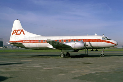 PCA (Pacific Coast Airlines) (1st) Convair 240-13 N91237 (msn 140) LGB (Bruce Drum Collection). Image: 950441.