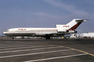 PSA (Pacific Southwest Airlines) Boeing 727-14 N970PS (msn 18908) LAX (Ted J. Gibson - Bruce Drum Collection). Image: 100966.