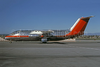 PSA (Pacific Southwest Airlines) BAe 146-200 N184US (msn E2044) (USAir colors) LAX (Brian J. Gore - Bruce Drum Collection). Image: 945180.