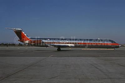PSA (Pacific Southwest Airlines) McDonnell Douglas DC-9-81 (MD-81) N812US (msn 48092) (USAir colors) LAX (Brian J. Gore - Bruce Drum Collection). Image: 945182.