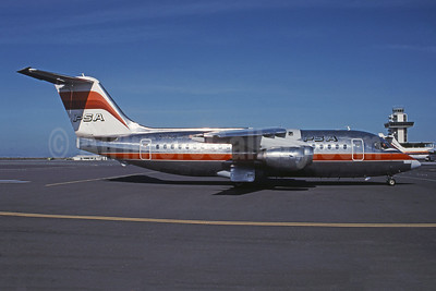PSA (Pacific Southwest Airlines) BAe 146-200 N189US (msn E2048) SJC (Seymour A. Hills - Bruce Drum Collection). Image: 945181.