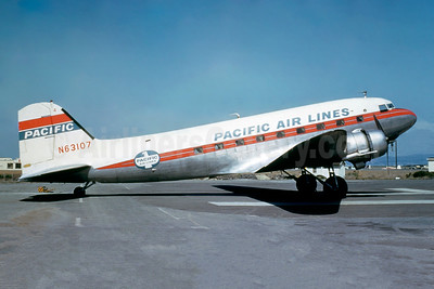 Pacific Air Lines Douglas C-47A-DL (DC-3) N63107 (msn 20063) SFO (Jacques Guillem Collection). Image: 942780.