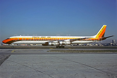Pacific East Air McDonnell Douglas DC-8-61CF N867FT (msn 45939) LAX (Christian Volpati Collection). Image: 921817.