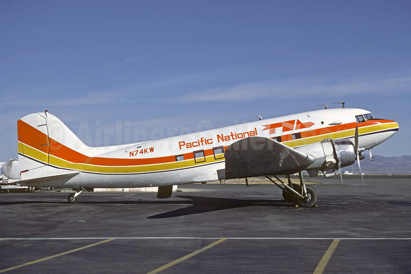 Pacific National Airways-PNA Douglas C-53-DO (DC-3) N74KW (msn 7317) (Air Sunshine colors) LAS (Christian Volpati). Image: 907679.