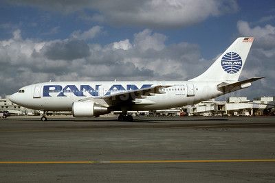 Pan Am (1st) Airbus A310-222 N807PA (msn 346) MIA (Bruce Drum). Image: 102952.
