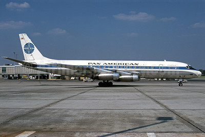 """Jet Clipper Caroline"", Pan Am-Delta interchange aircraft"