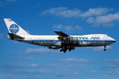 Pan Am (1st) Boeing 747-212B N724PA (msn 21316) (experimental colors) MIA (Fernandez Imaging). Image: 912787.