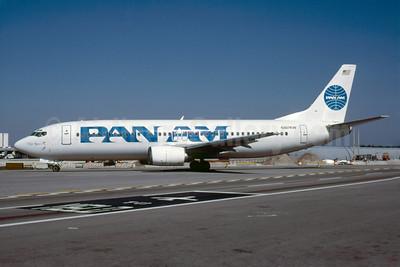Pan Am (2nd) (Carnival Air Lines) Boeing 737-4Q8 N407KW (msn 24703) MIA (Bruce Drum). Image: 103311.
