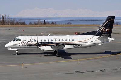 PenAir (Peninsula Airways) SAAB 340B N679PA (msn 345) ANC (Robbie Shaw). Image: 908345.