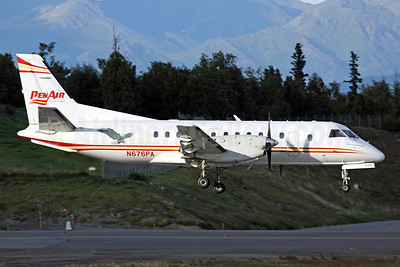 PenAir (Peninsula Airways) SAAB 340B N676PA (msn 316) (bald eagle) ANC (Michael B. Ing). Image: 903235.