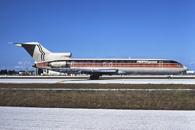 Peoplexpress (People Express Airlines) Boeing 727-243 N585PE (msn 22167) MIA (Bruce Drum). Image: 102254.