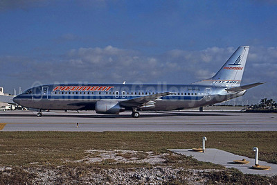 Piedmont Airlines (1st) Boeing 737-401 N406US (msn 23876) FLL (Nigel Chalcraft - Bruce Drum Collection). Image: 100956.